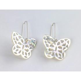 Mariposas de Nácar blanco