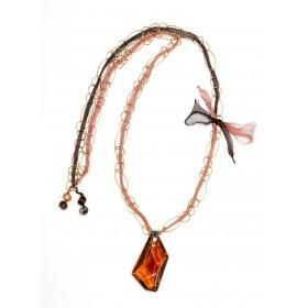 Collar Swarovski con cadena dorada