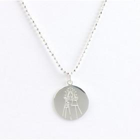 """Medalla """"Maredeueta"""" con cadena de Plata de 1ª Ley de 40cm."""